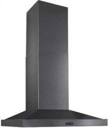 """30"""" 500 CFM Black Stainless Steel Chimney Range Hood"""