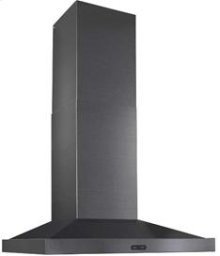 "30"" 500 CFM Black Stainless Steel Chimney Range Hood"