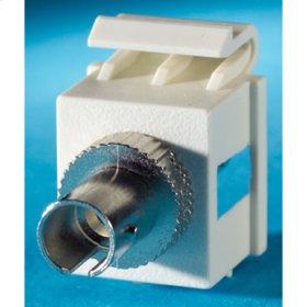 1-ST fiber Keystone module, Wiremold Ivory