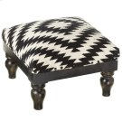 Black & White Hand Woven Tribal Stool. Product Image