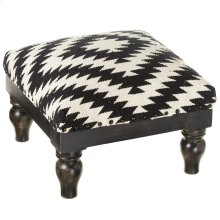 Black & White Hand Woven Tribal Stool.