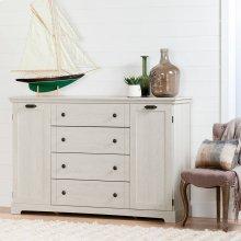 Storage Cabinet with 4 Drawers and 1 Door Dresser - Winter Oak