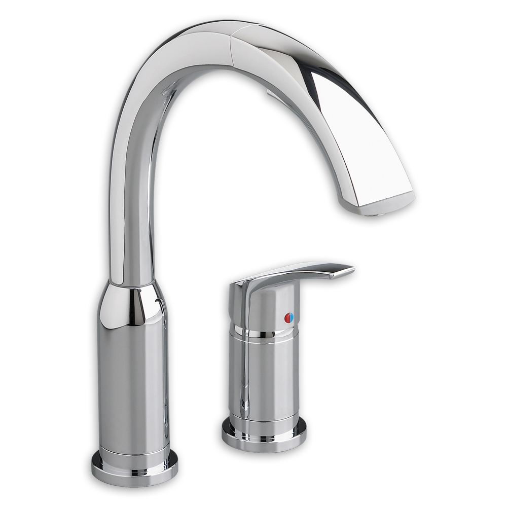 Arch Single Handle Pull Out High Arc Kitchen Faucet American Standard    Polished Chrome