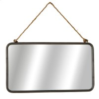 Rectangle Wall Mirror with Rope Hanger. Product Image