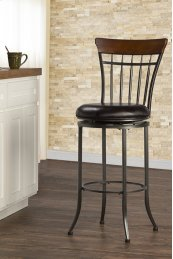 Cameron Spoke Back Swivel Counter Stool