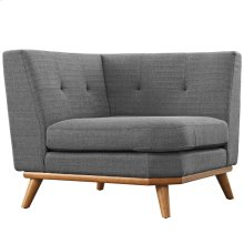 Engage Upholstered Fabric Corner Sofa in Gray