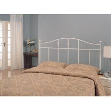 Traditional Cottage White Metal Queen Headboard