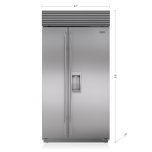 "SUB-ZERO42"" Classic Side-by-Side Refrigerator/Freezer with Dispenser"