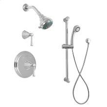 ENCORE 03 - Pressure Balance Shower Set with Melrose Handles with Diverter, Handshower and Slidebar
