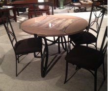 Daisy Faux Marble Dinette Table
