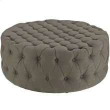 Amour Upholstered Fabric Ottoman in Granite