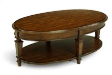 Oakbrook Oval Cocktail Table w/Casters