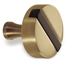 """1 1/4"""" Knob - Satin Brass and Oil Rubbed Bronze"""
