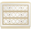 Amelia 3 Drawer Chest - Antique Beige / Nickel / Mirror Product Image