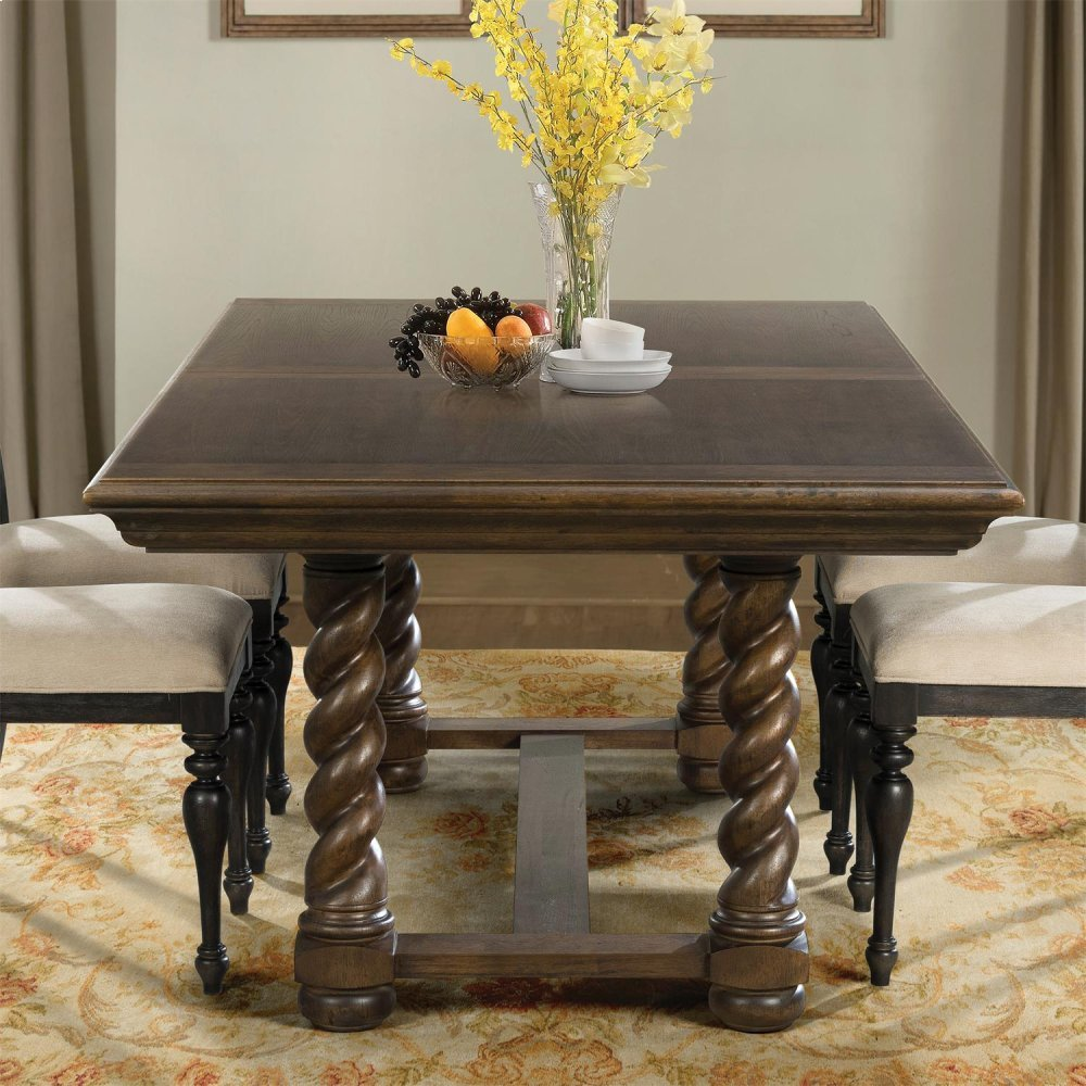 ICON Furniture Art Riverside Cassidy Trestle Dining Table - Aged wood dining table