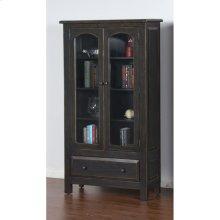 Black 2 Door Display Cabinet