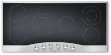 "Stainless Steel/Black Glass 45"" Electric Radiant Cooktop - DECU (45"" wide cooktop)"