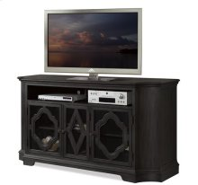 Corinne TV Console Ebonized Acacia finish