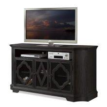 Corinne TV Console Ebonized Acacia finish