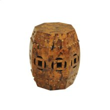 TIGER PENSHELL INLAID OCCASIONAL TABLE