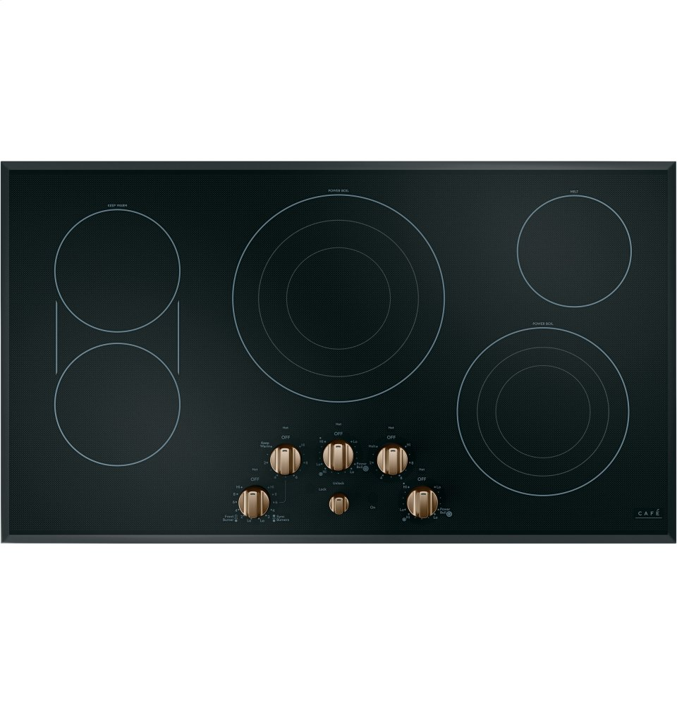 "Caf(eback) 36"" Knob-Control Electric Cooktop
