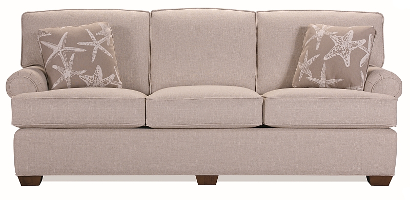 Full Length Sofa With Attached Backs And No Skirt Hidden