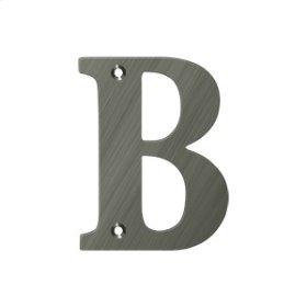 "4"" Residential Letter B - Antique Nickel"