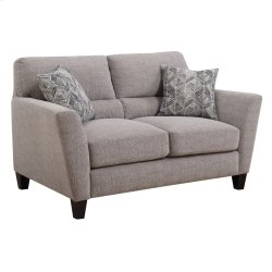 Loveseat W/2 Accent Pillows Speckled Brown #k2080-13 Product Image