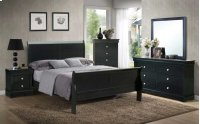 """Orleans Nightstand, Black 21""""x15""""x23"""" Product Image"""