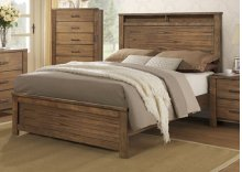 5/0 Queen Headboard/Footboard - Satin Mindi Finish