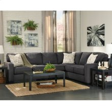 Signature Design by Ashley Alenya 3-Piece Right Side Facing Sofa Sectional in Charcoal Microfiber [FSD-1669SEC-3RAFS-CH-GG]