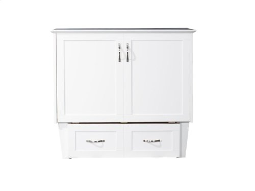 Madison Murphy Bed Chest Twin White with Charging Station