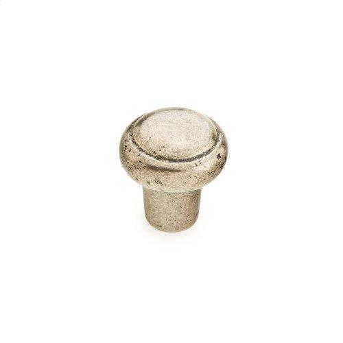 "Cast Bronze, Mountain, Round Knob, 1-3/8"" diameter, Italian Nickel finish"