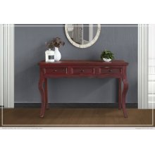 Sofa Table w/ 3 Drawers - Red Currant finish