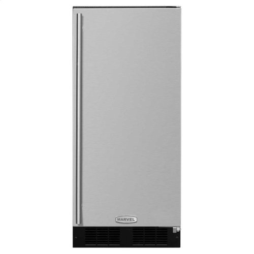 """15"""" Marvel Clear Ice Machine with Arctic Illuminice Lighting - Factory Installed Pump - Stainless Steel Door with Left Hinge"""
