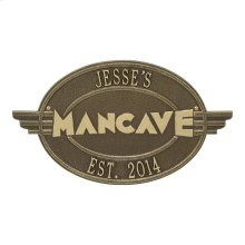 Moderno Man cave Personalized Plaque - Antique Brass