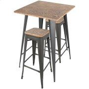 Oregon Pub Set - Grey Metal, Bamboo Product Image