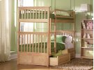 Columbia Bunk Bed Twin over Twin with Raised Panel Bed Drawers in Natural Product Image