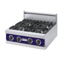 """Cobalt Blue 24"""" Sealed Burner Rangetop - VGRT (24"""" Wide, four burner)"""
