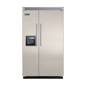 "Oyster Gray 48"" Side-by-Side Refrigerator/Freezer with Dispenser - VISB (Integrated Installation)"