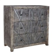 Bengal Manor Mango Wood 3 Drawer Chest w/ Metal Strip Detail Product Image