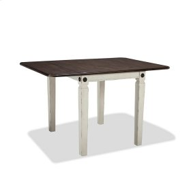 Dining - Glennwood Drop Leaf Table  White & Charcoal