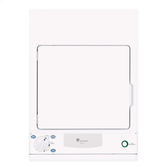 GE 3.6 cu. ft. Electric Compact Dryer White PSKS333EBWW