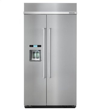 KitchenAid(R)25.5 cu. ft 42-Inch Width Built-In Side by Side Refrigerator - PrintShield Stainless