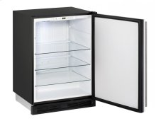 """1000 Series 24"""" Solid Door Refrigerator With White Solid Finish and Field Reversible Door Swing"""