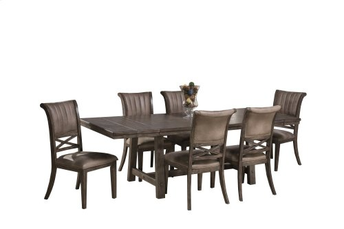 Legacy 7 Piece Dining Set - Dark Gray