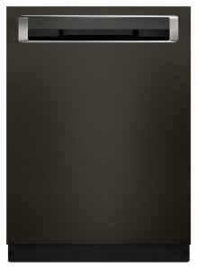 44 DBA Dishwashers with Clean Water Wash System and PrintShield Finish, Pocket Handle - Black Stainless Steel with PrintShield™ Finish