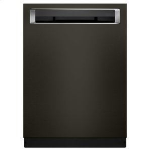 Kitchenaid44 DBA Dishwashers with Clean Water Wash System and PrintShield(TM) Finish, Pocket Handle - Black Stainless