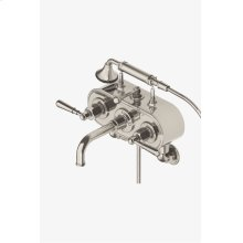 Regulator Exposed Wall Mounted Tub Filler with Handshower and Metal Lever Handles STYLE: RGXT31