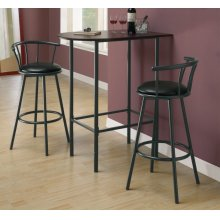 "BARSTOOL - 2PCS / 36""H / SWIVEL / BLACK METAL"